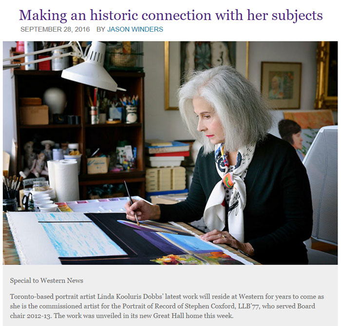 Linda Kooluris Dobbs Portrait Painter
