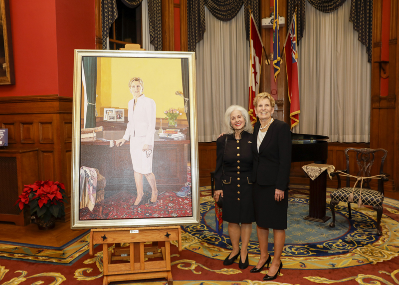 Linda Kooluris Dobbs and former Premiere Kathleen Wynne